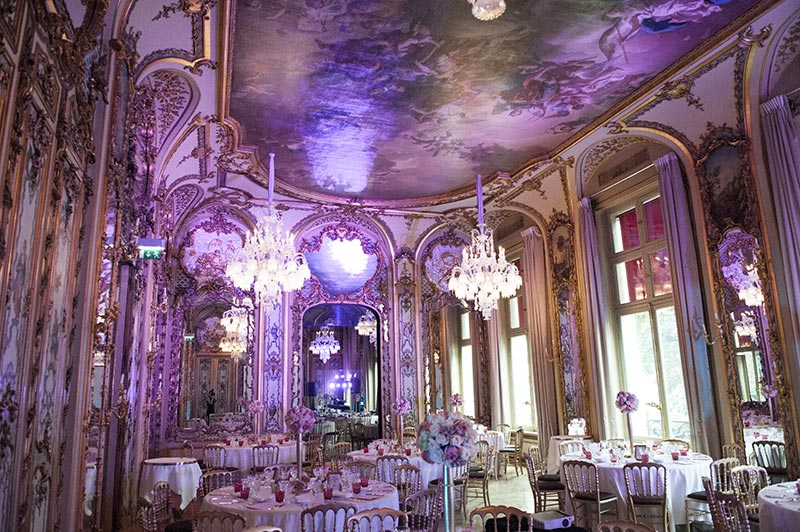 Crystal parisian wedding